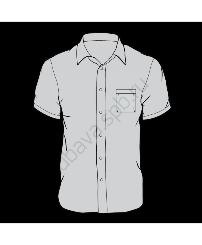 Рубашка классика мужская, короткий рукав