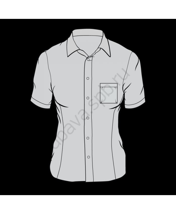 Рубашка классика женская, короткий рукав