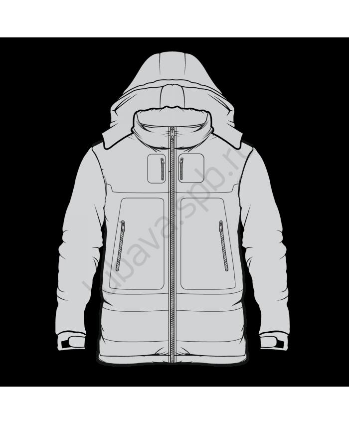 Куртка теплая короткая